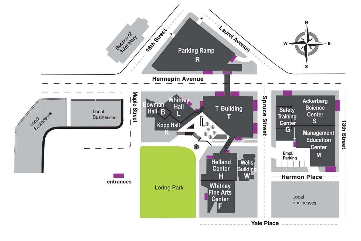 Minneapolis College Campus Map
