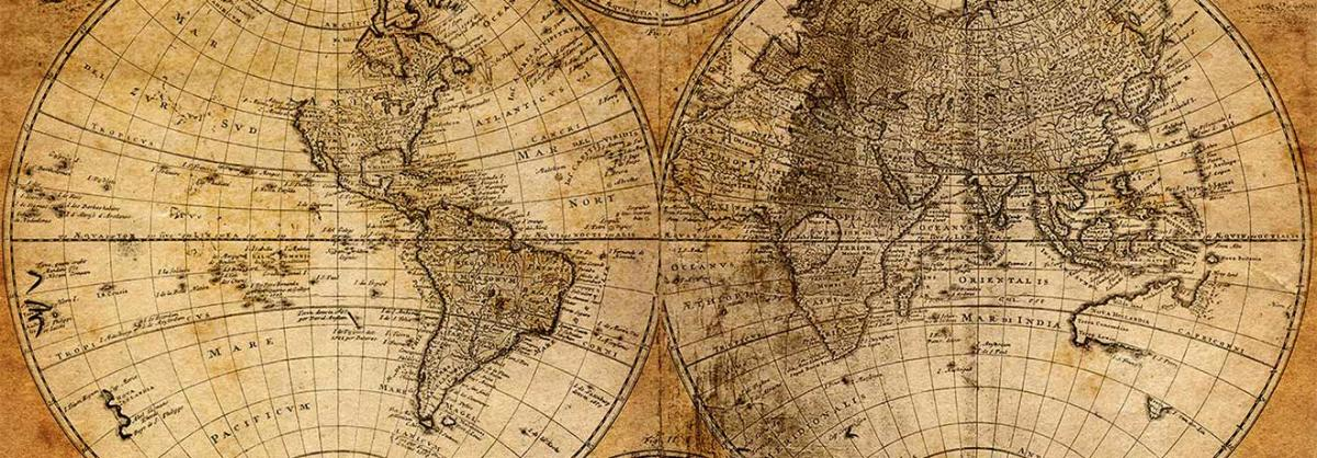 An old map of the Earth