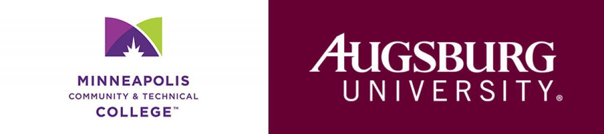 Minneapolis College and Augsburg University logos