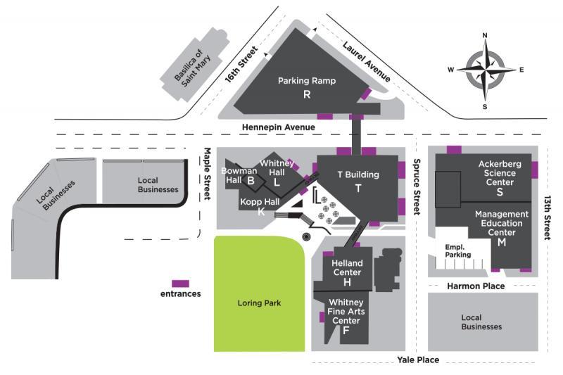 Campus Map of Minneapolis College