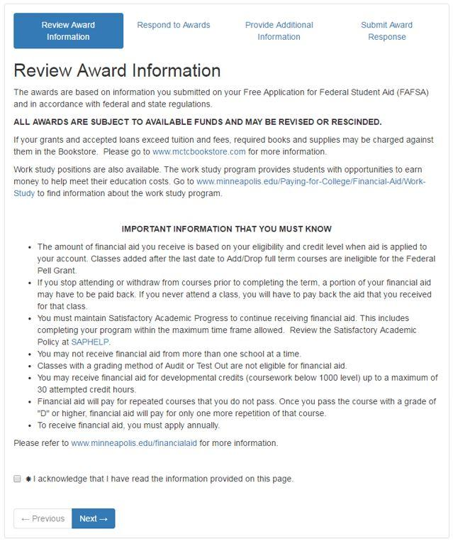 Award Notification Step 3