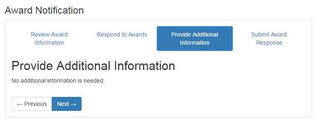 Award Notification Step 5