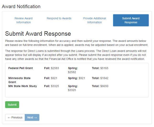 Award Notification Step 6