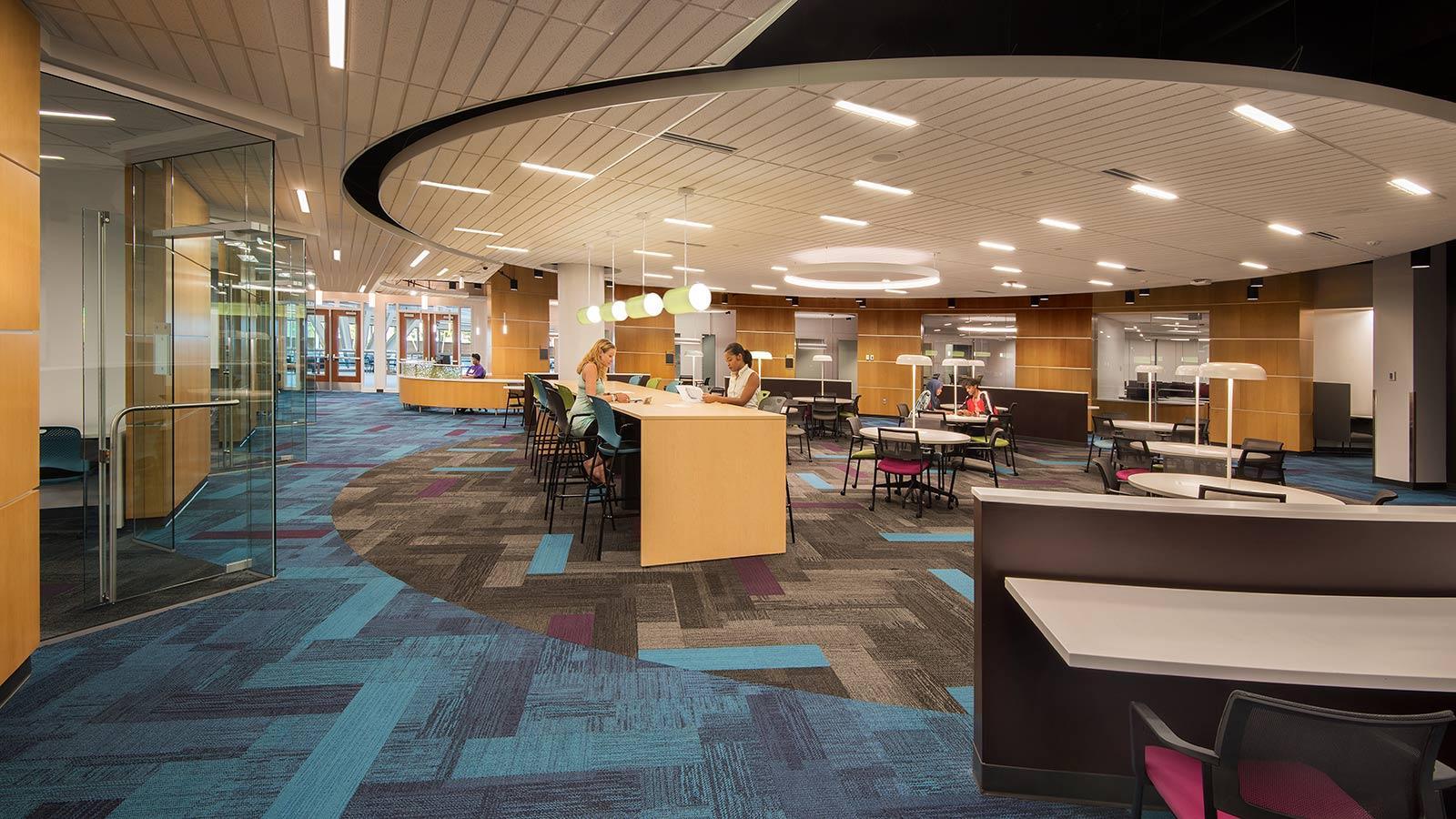 Inside the Academic Success Center Main Area