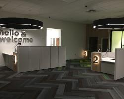 view of new student services office