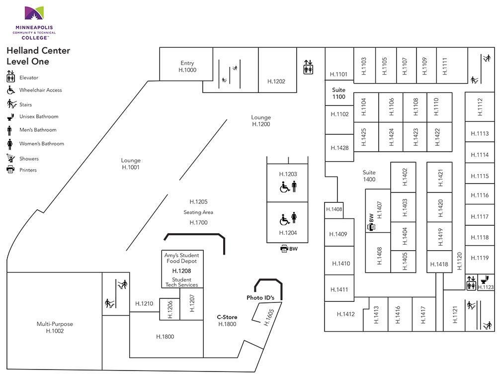 Helland Center Level One Floor Plan