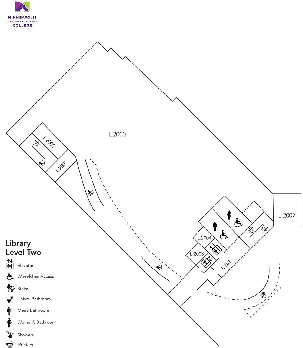 Whitney Hall (Library) Level Two Floor Plan